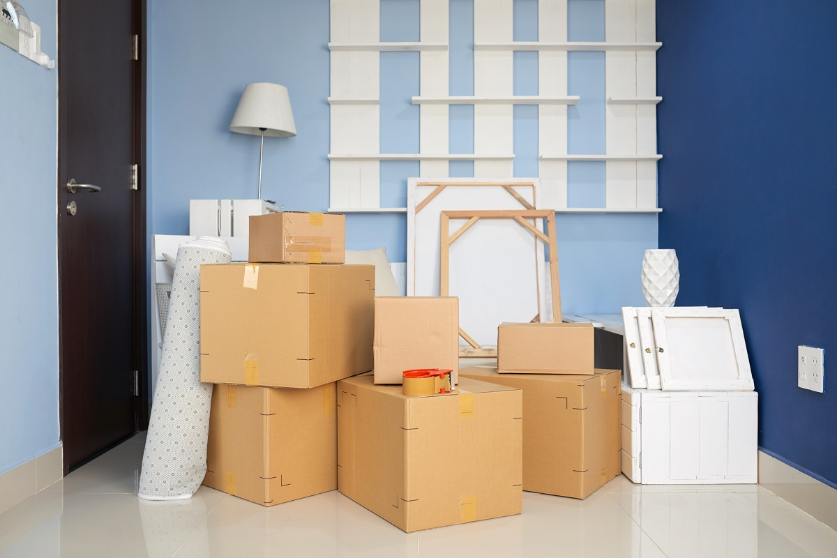 Room With Moving Boxes