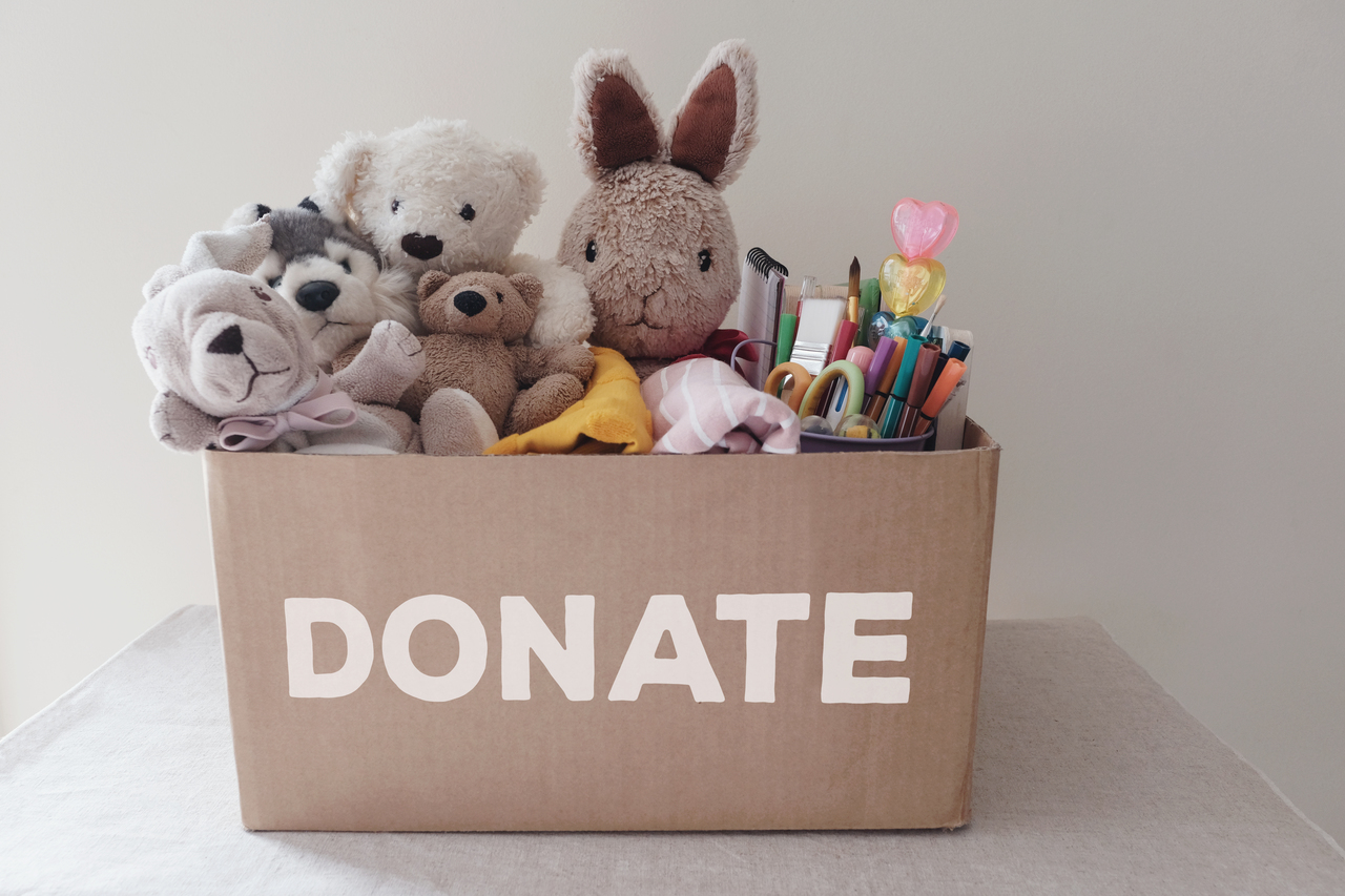 A box full of donations